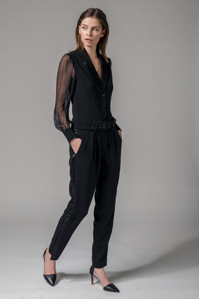 Travel crêpe jumpsuit