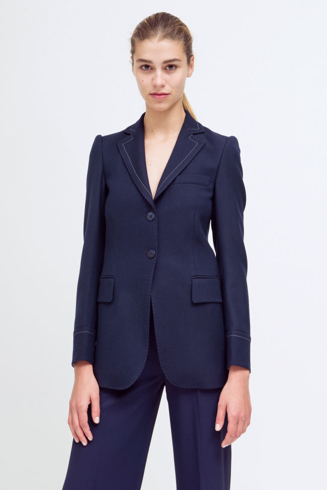 Two-button blazer made of a virgin wool blend