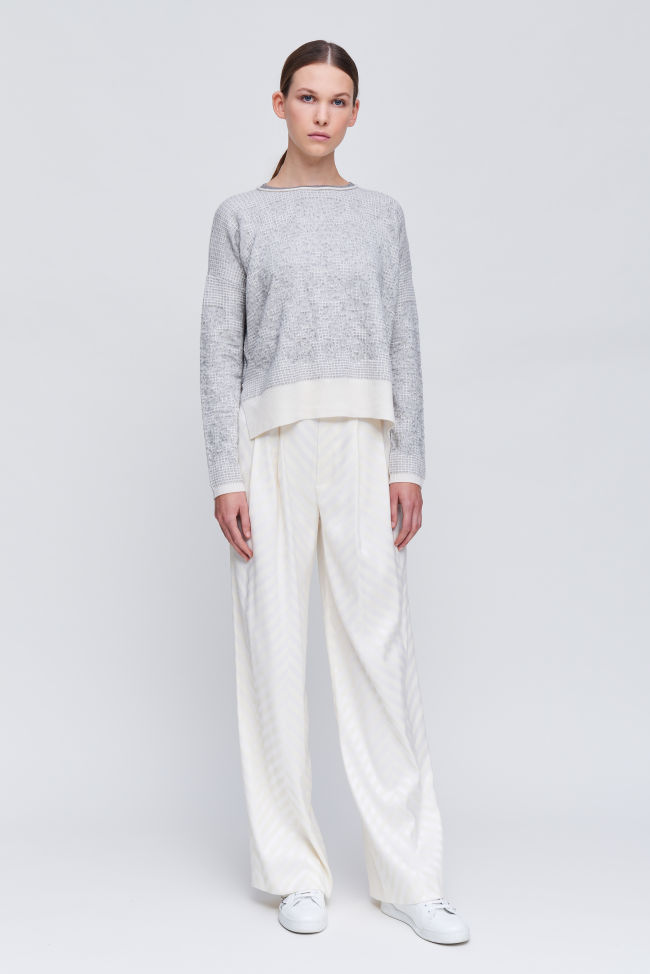 Trousers with wide leg