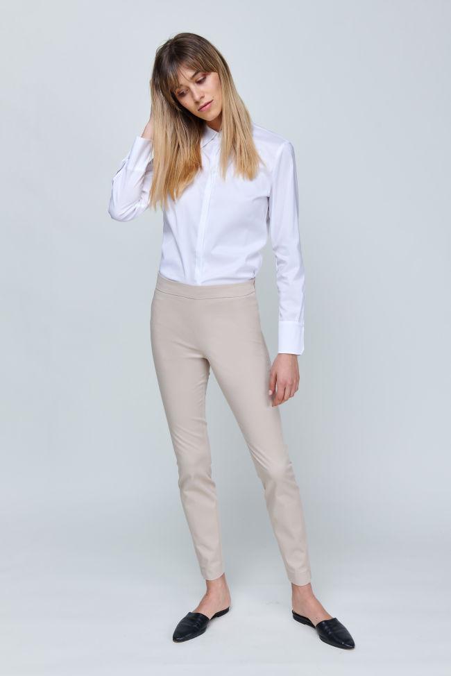 Slim-fit trousers in gabardine stretch