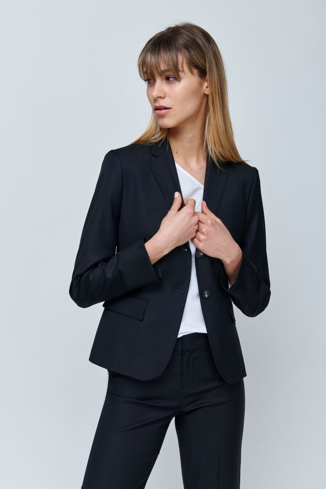Business Blazer in Cool Wool Panama