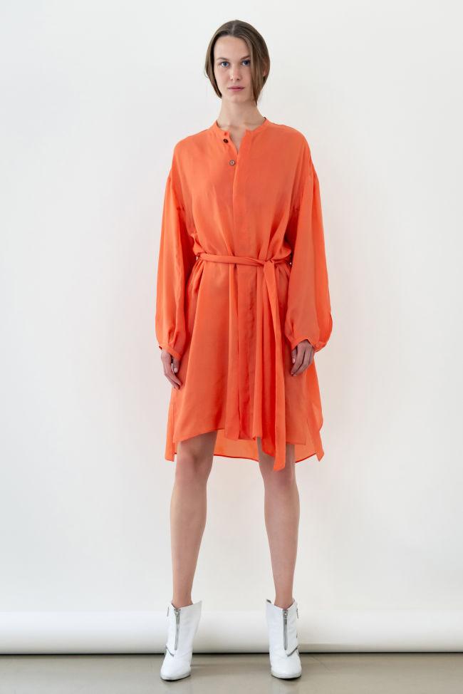Seidig glänzendes Oversize Kleid