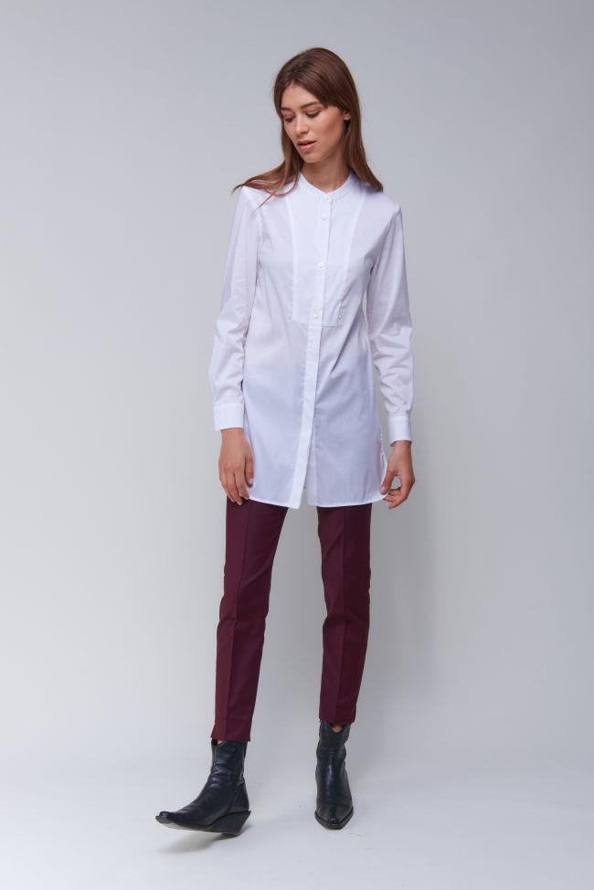 Nonchalante Tunika Bluse aus Baumwollpopeline Stretch