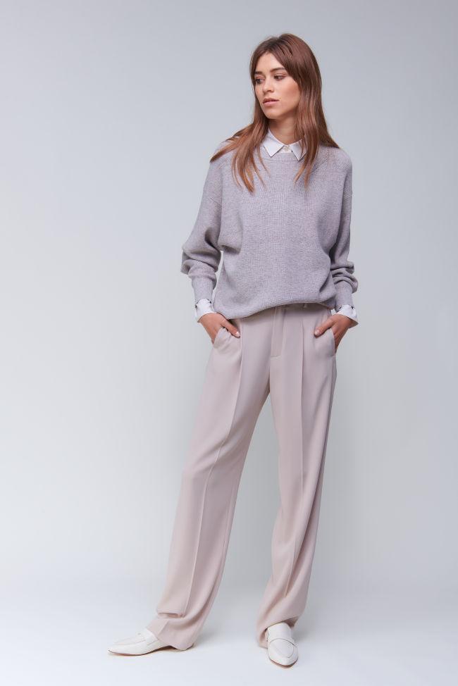 Sophisticated Wide-Leg Hose aus Crêpe