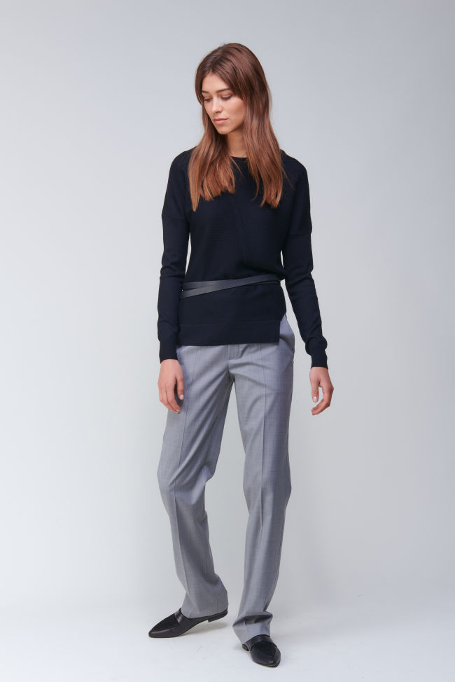 Classic straight fit pants in Super 100 quality