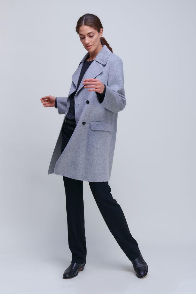 Zeitloser Zweireiher Mantel aus Doubleface mit Kaschmiranteil