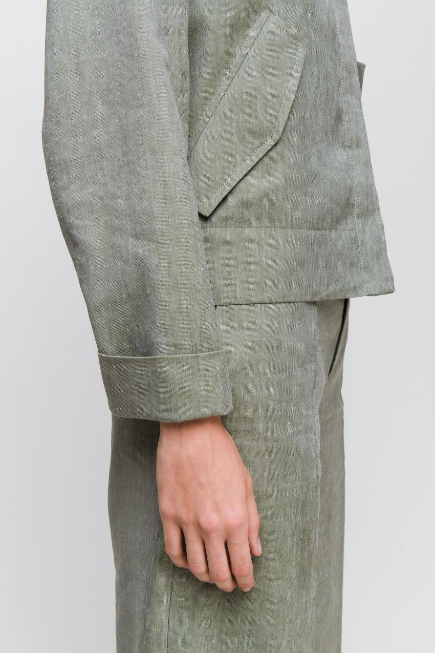 Jacke aus Leinen-Mischung