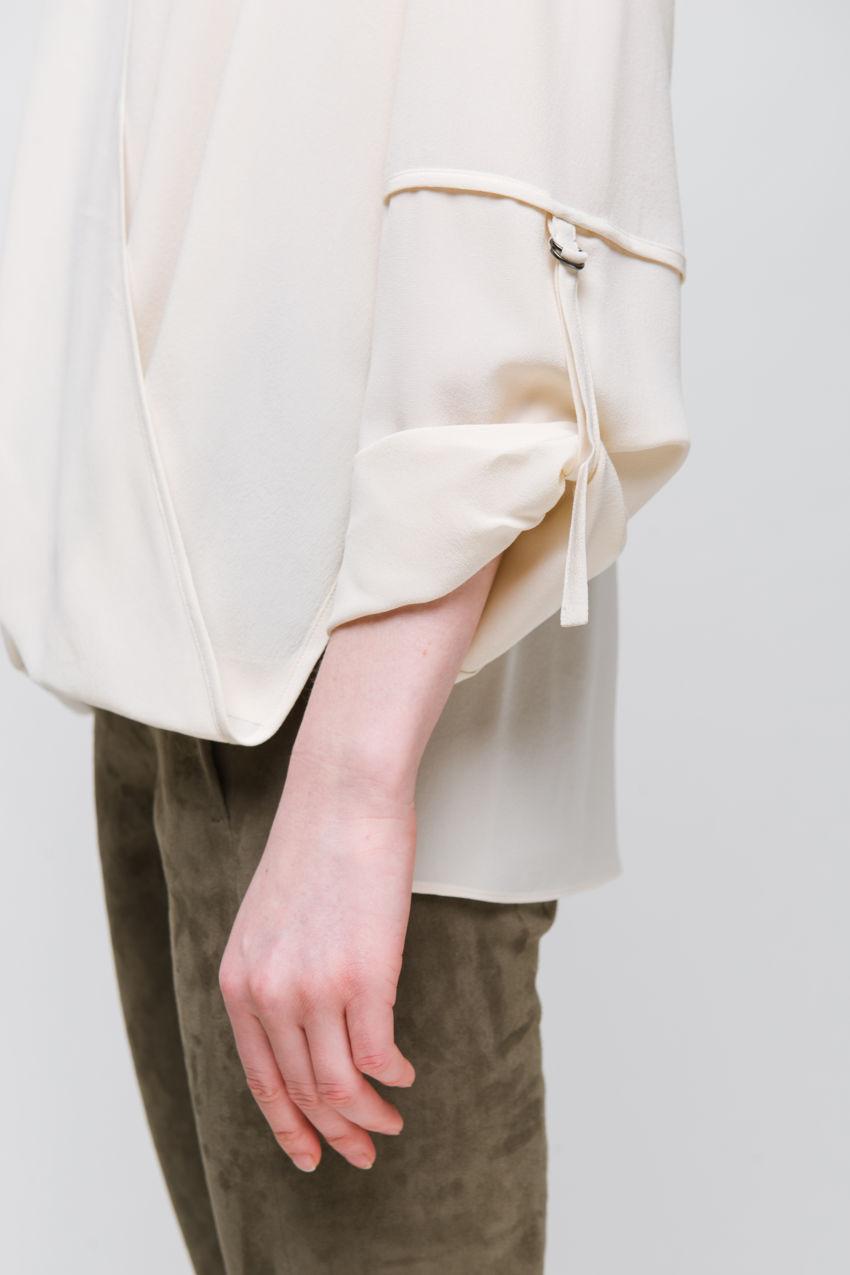 Bluse aus Seiden Crêpe
