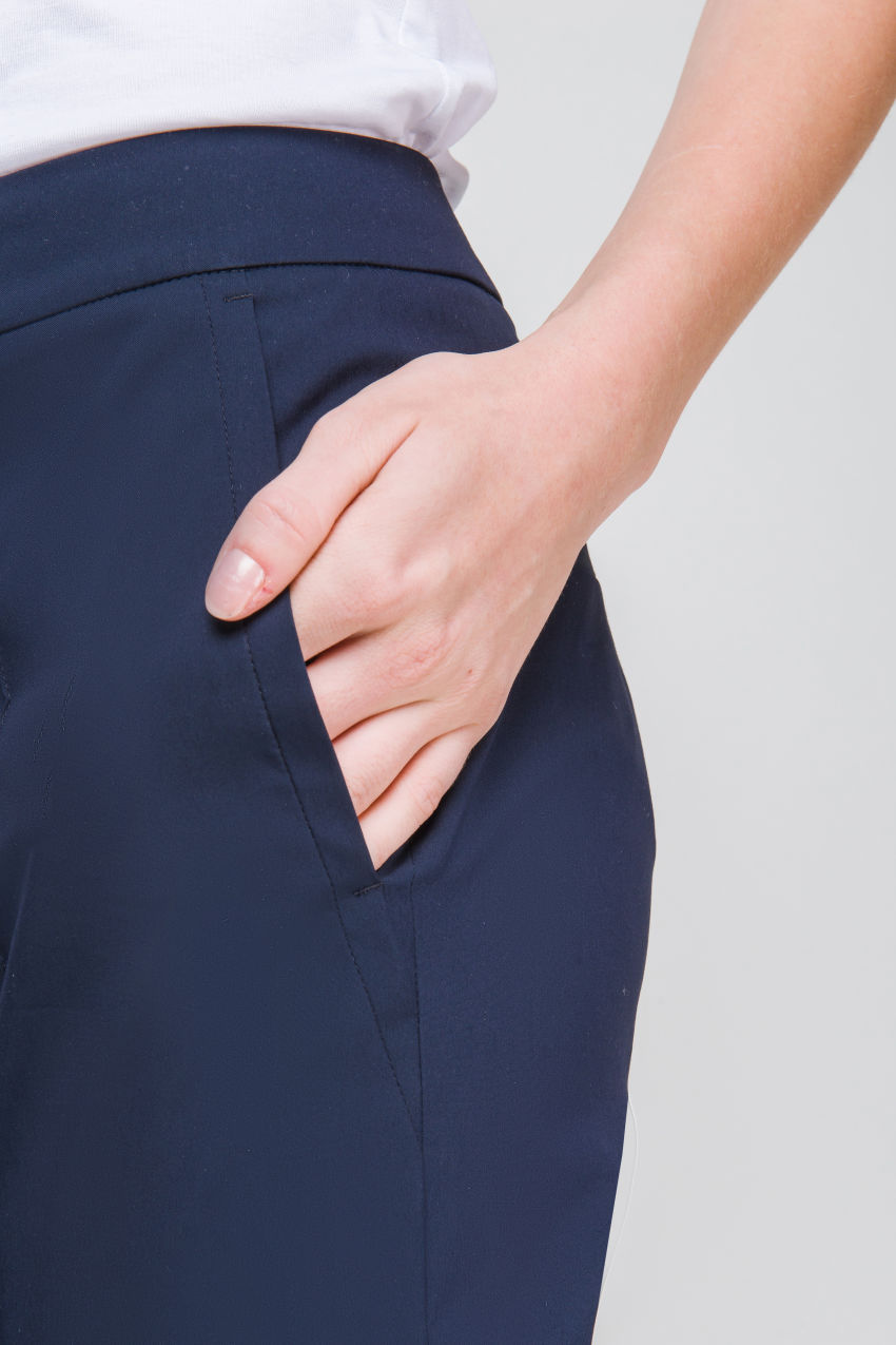 Hose aus Popelin Stretch
