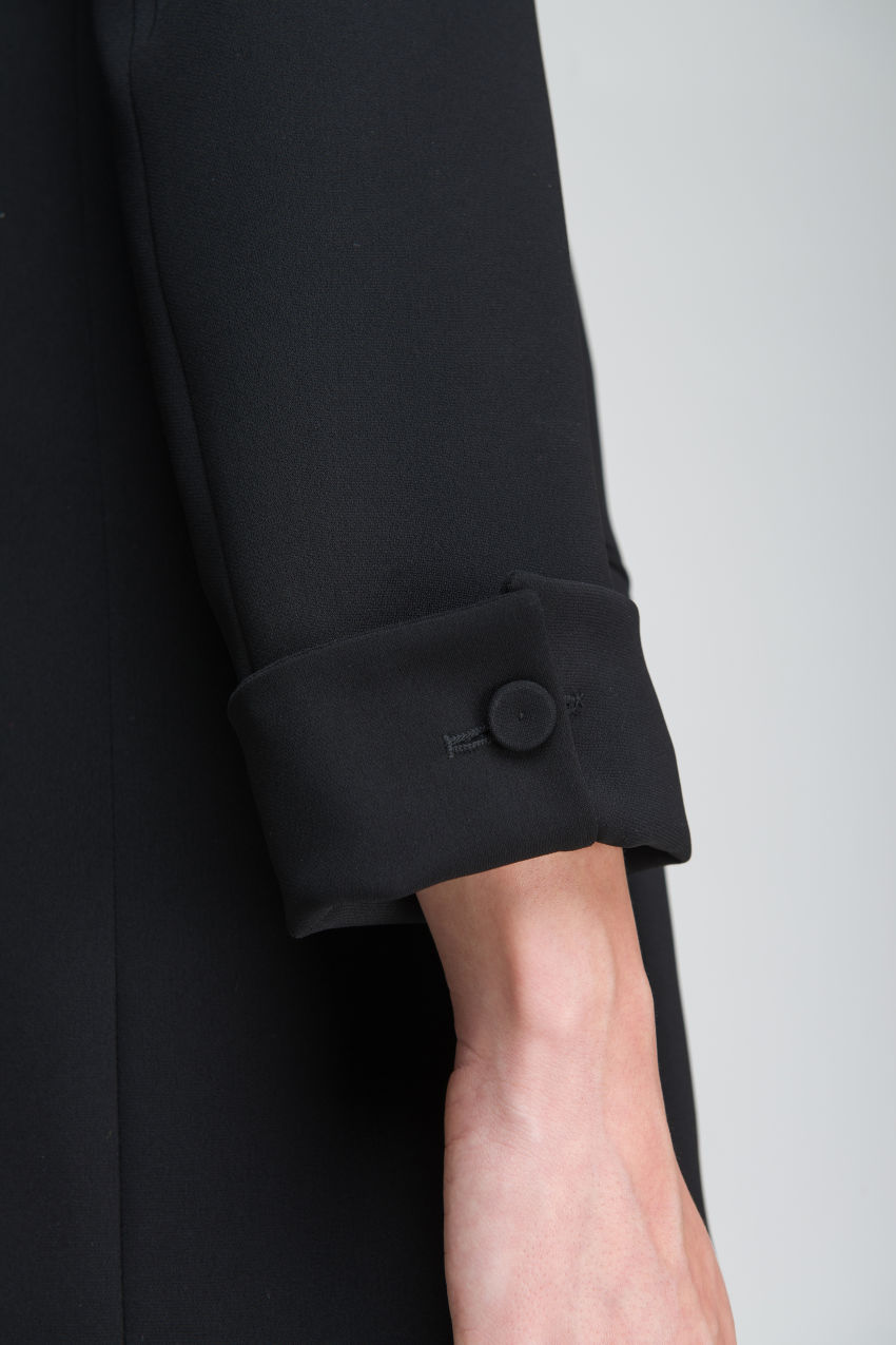 Blazer with shawl collar