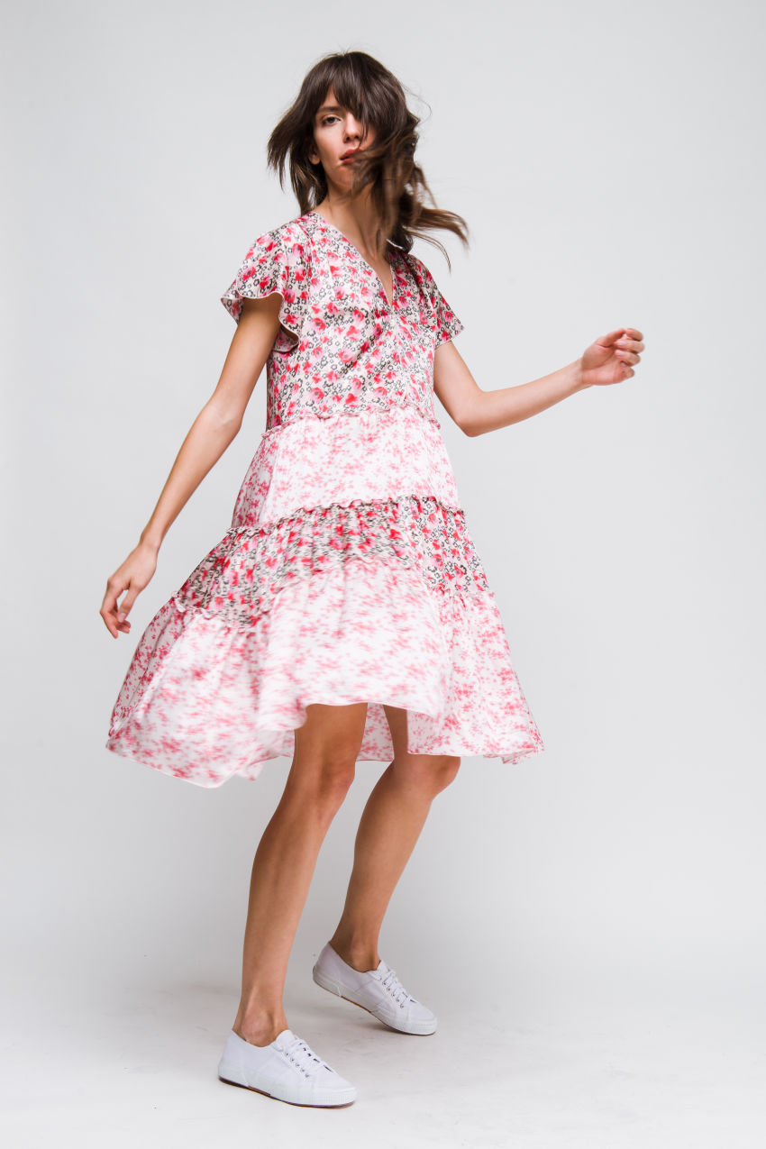 Kleid aus Seidenmischung