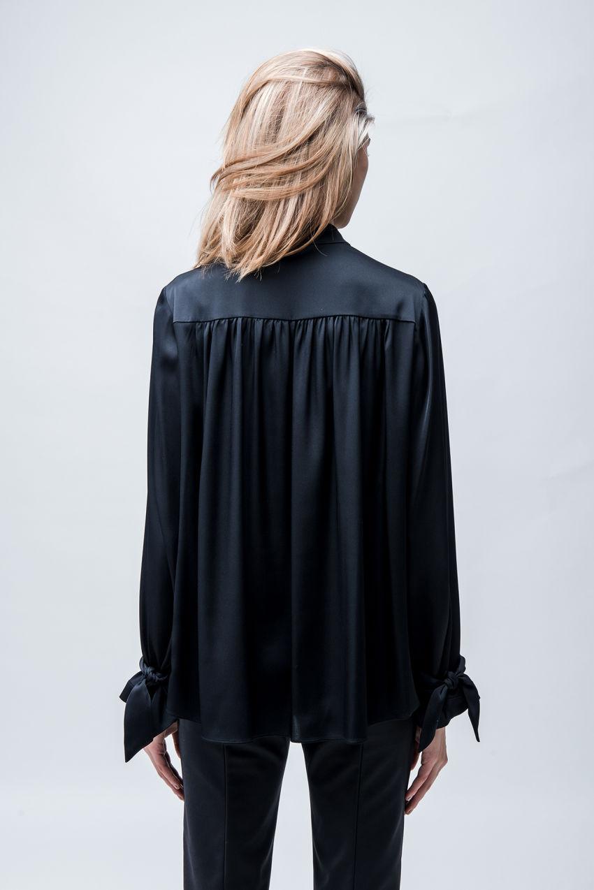 Bluse aus Seiden-Stretch