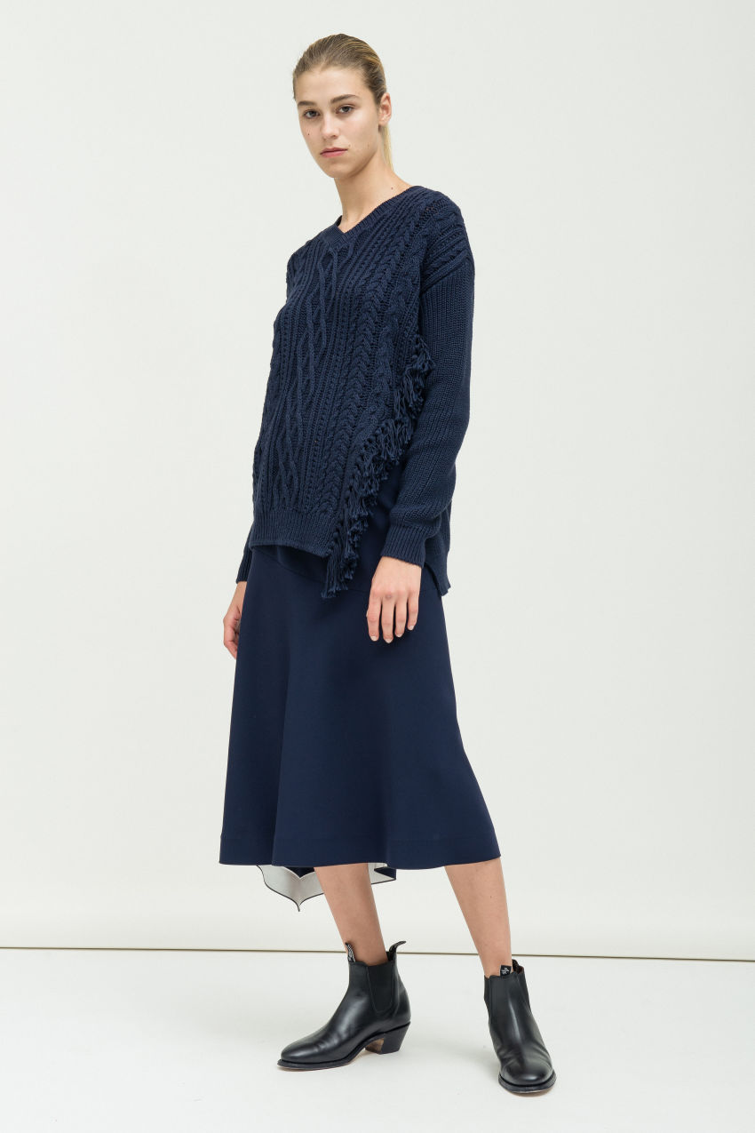Pullover mit Zopfstrick