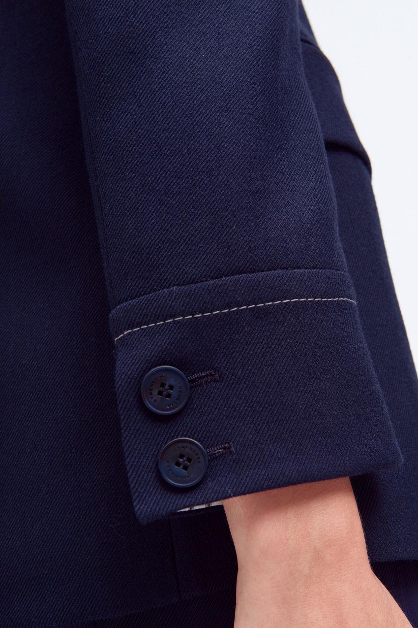 Zweiknopf-Blazer aus Schurwollmischung