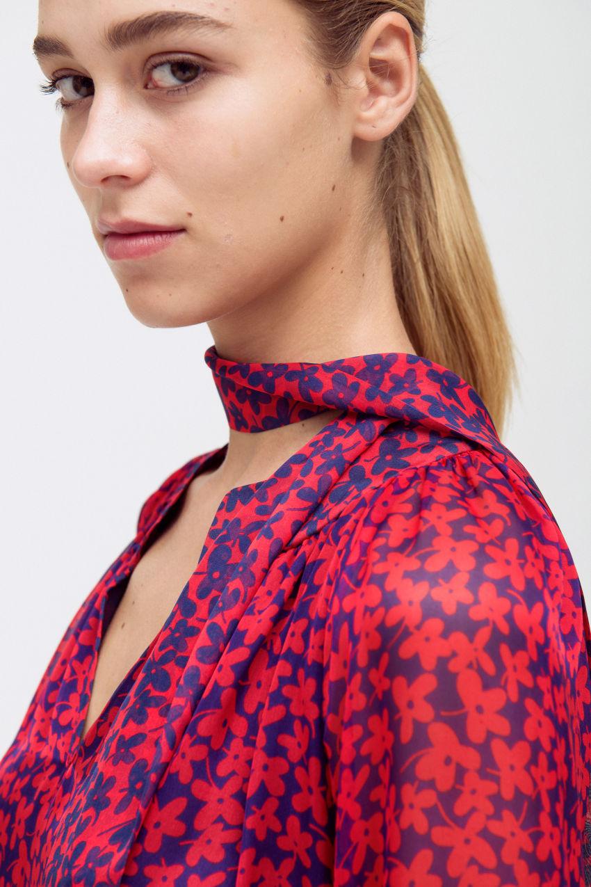 Silk print dress