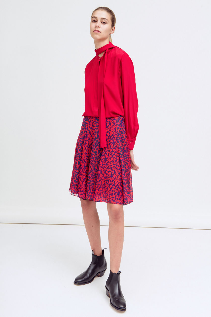 Skirt with flower print