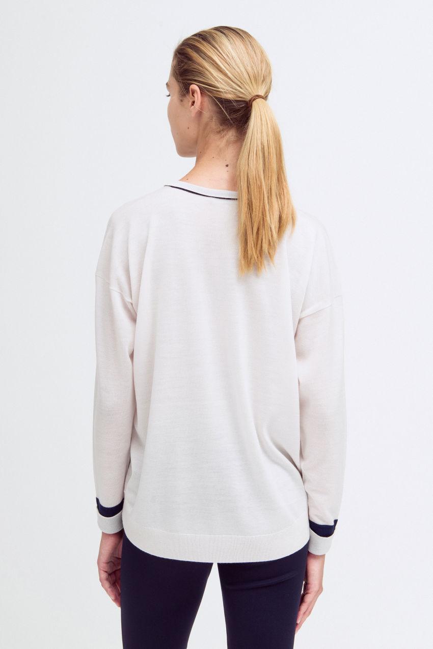 Lässiger V-Pullover