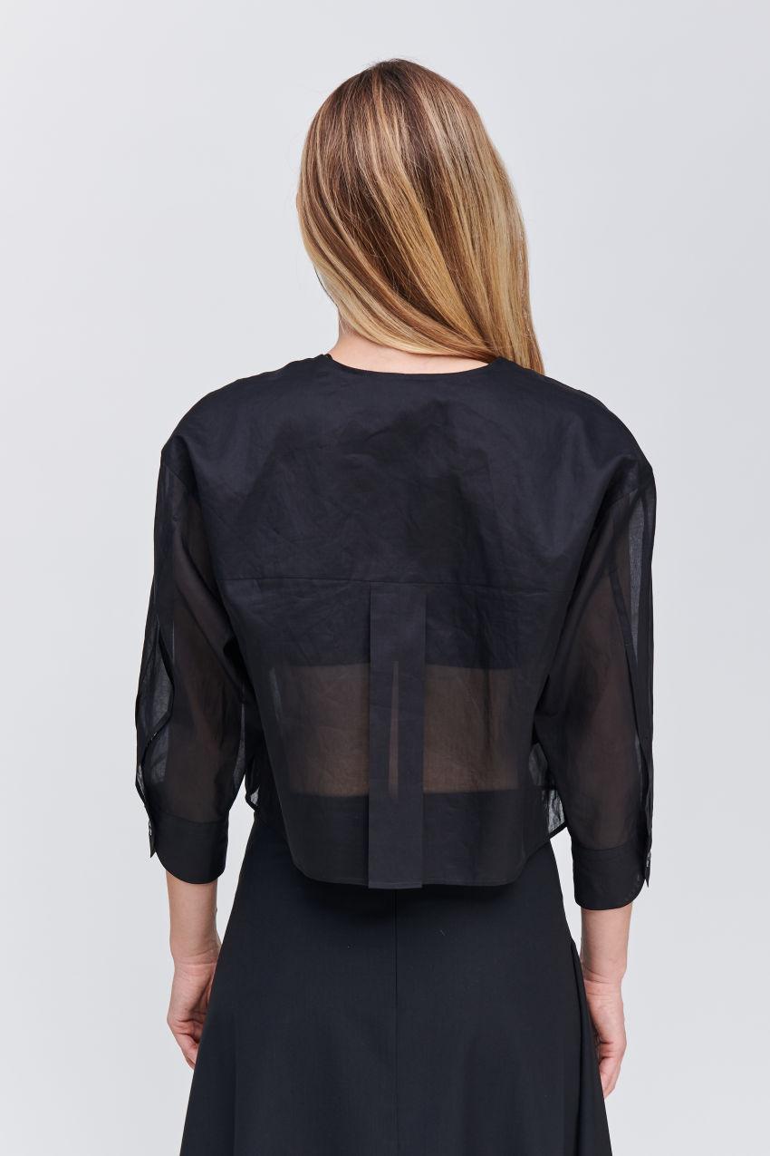 Bluse im cropped Schnitt