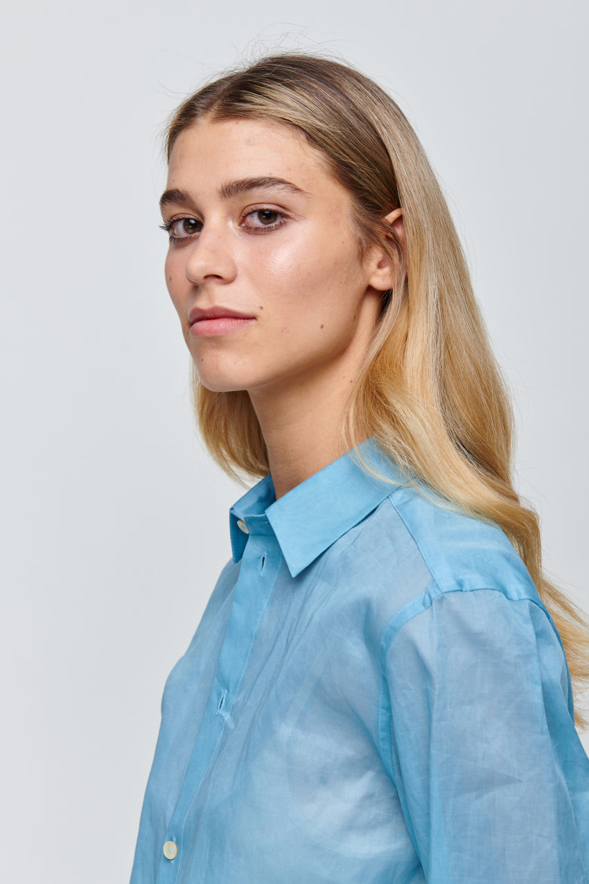 Semi-transparent shirt blouse