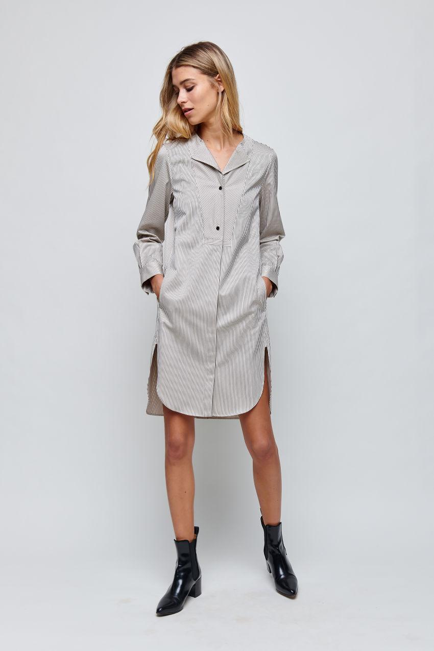 Casual shirt dress
