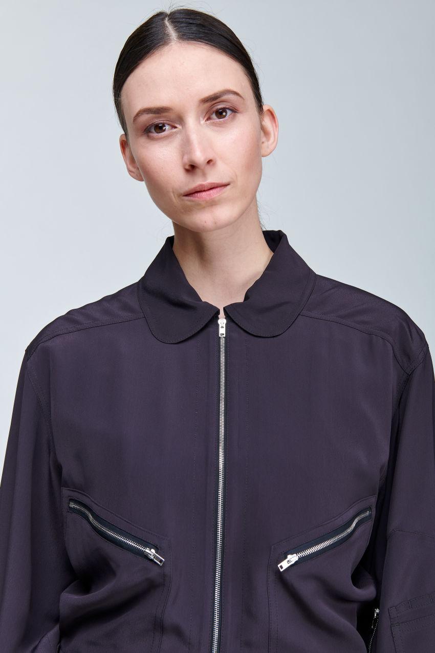 Light jacket in fine crêpe