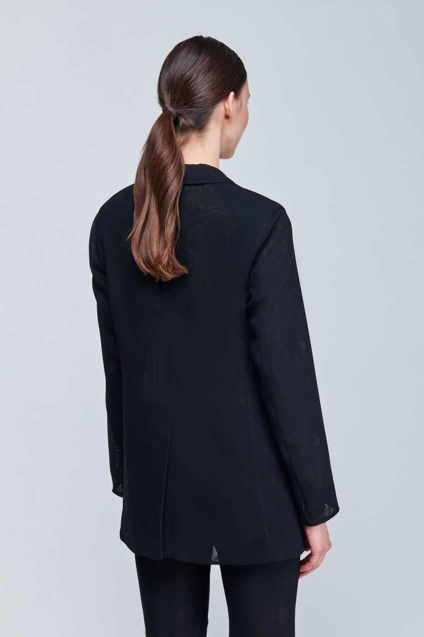 Semitransparenter Long Blazer