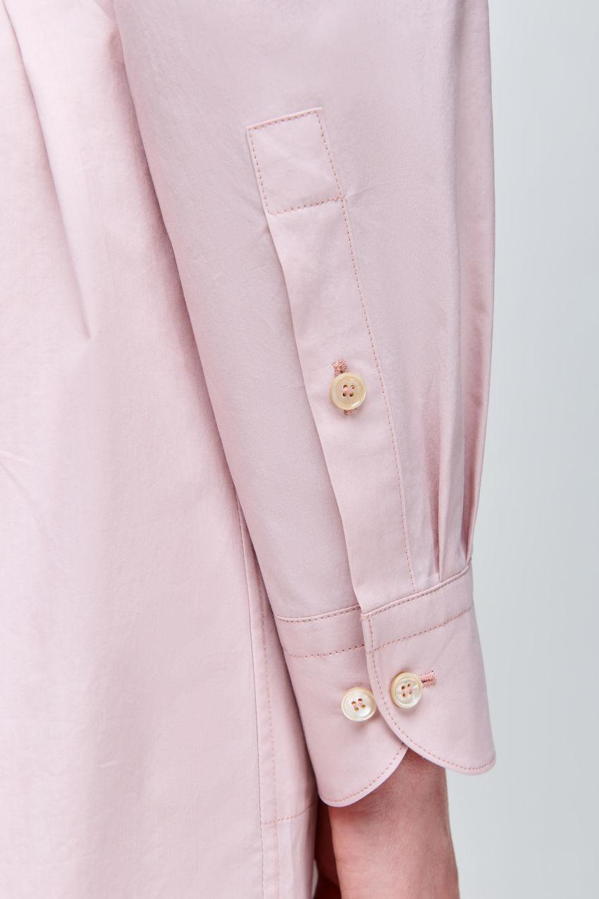 Shirt dress made of summery cotton