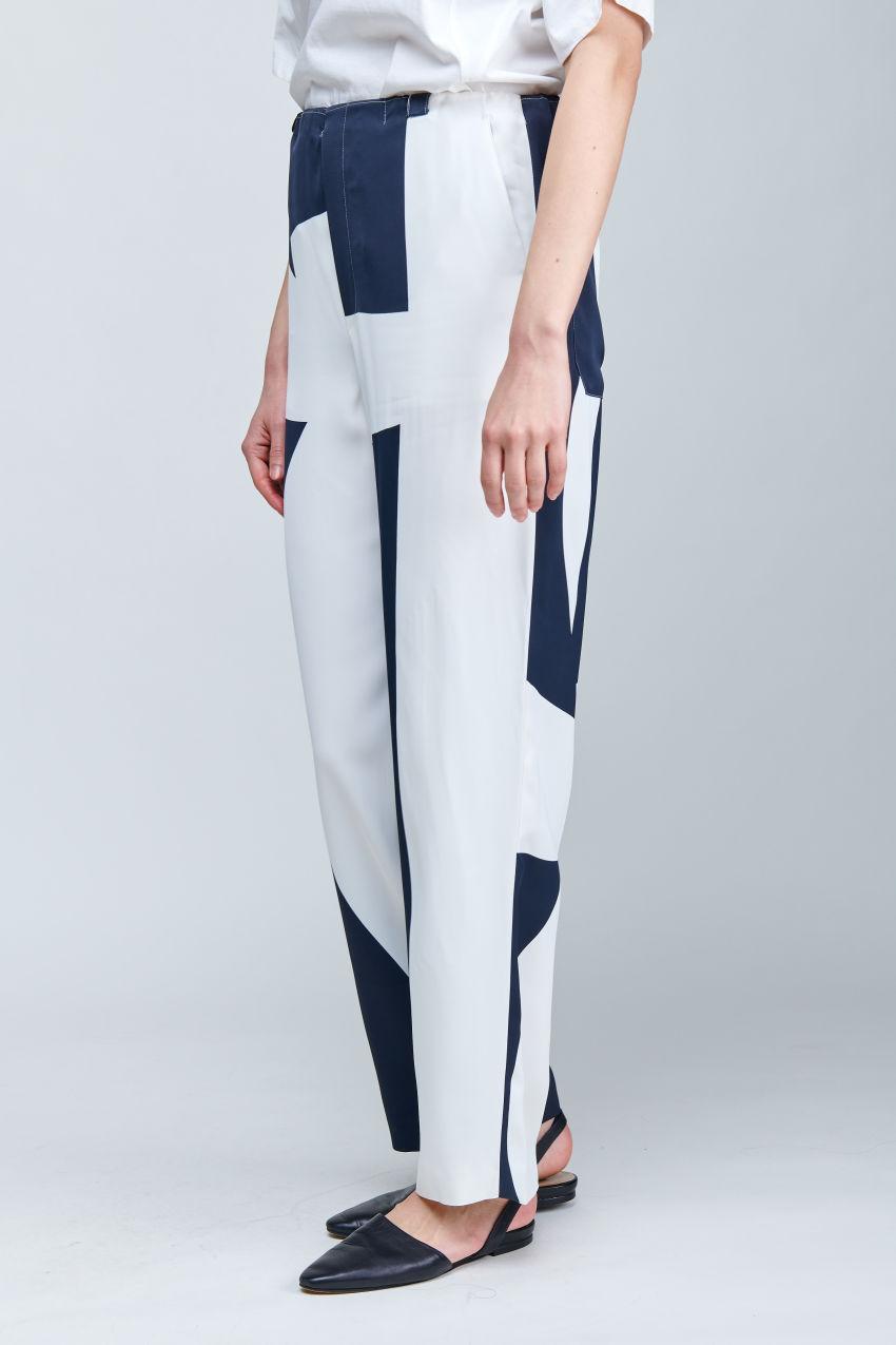 Wide Leg Hose in abstraktem Print