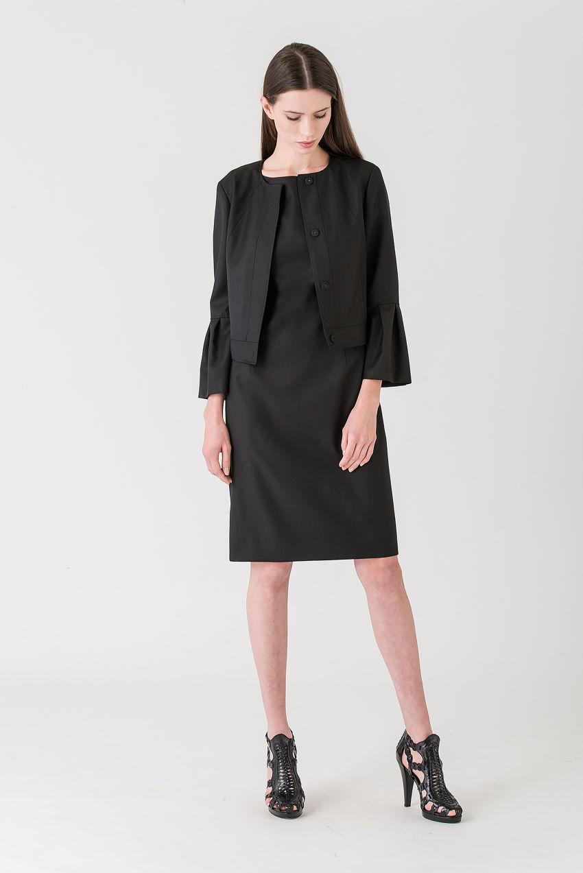 Jacket in superb, fine Panama cool wool