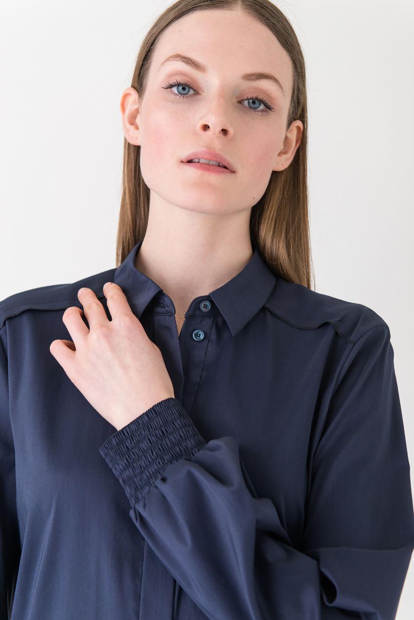 Lässiges Hemdblusenkleid für jede Gelegenheit