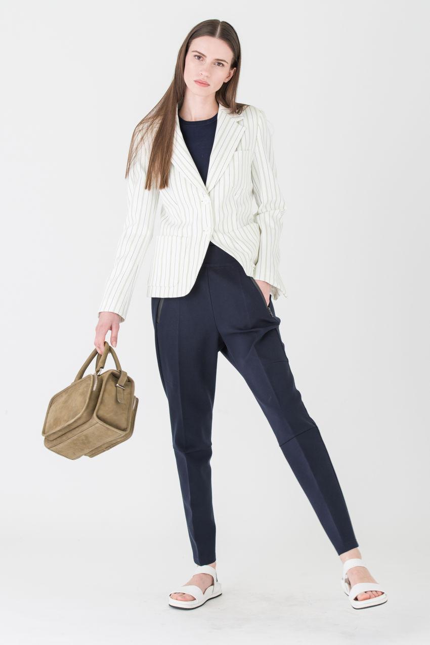 Extravagant, striped blazer made of Dri-FIT jersey