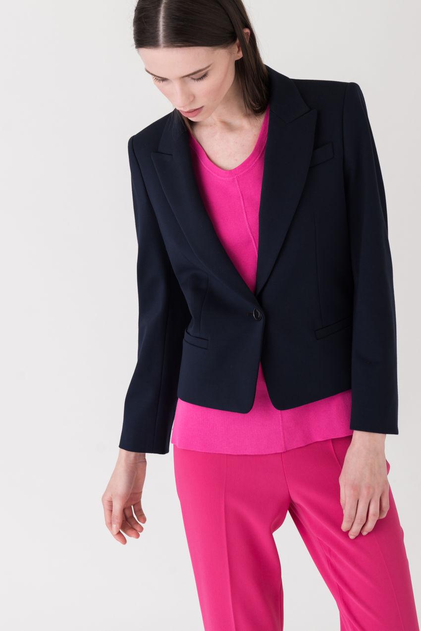Kurz-Blazer aus edlem Punto Milano-Jersey