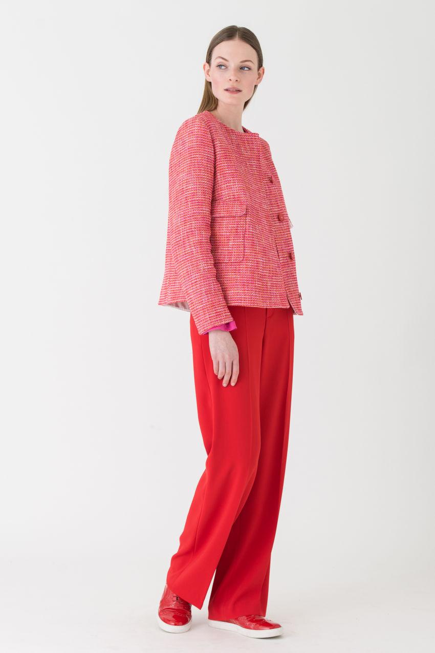 Leichte Tweed-Jacke in exquisiten Farben