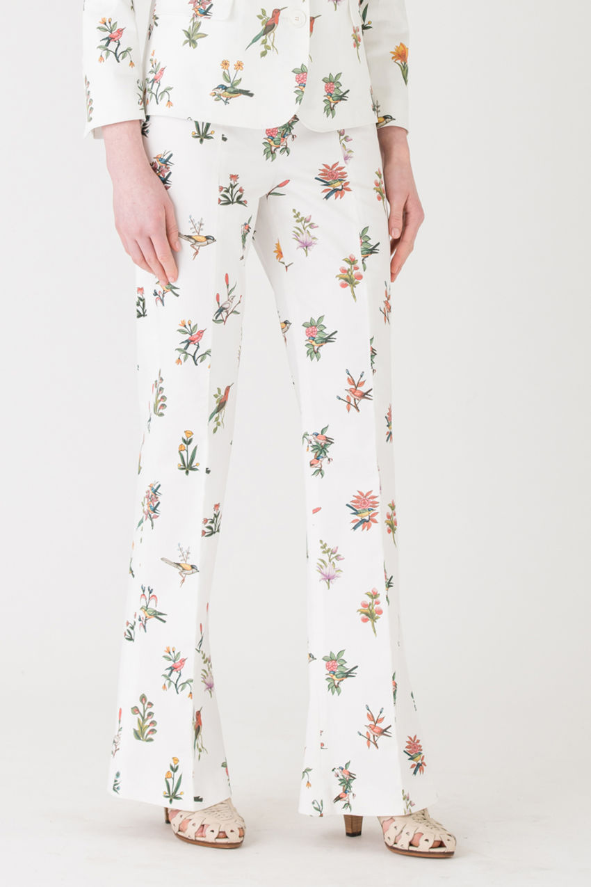 Hochelegante, taillierte Hose aus Cotton-Stretch