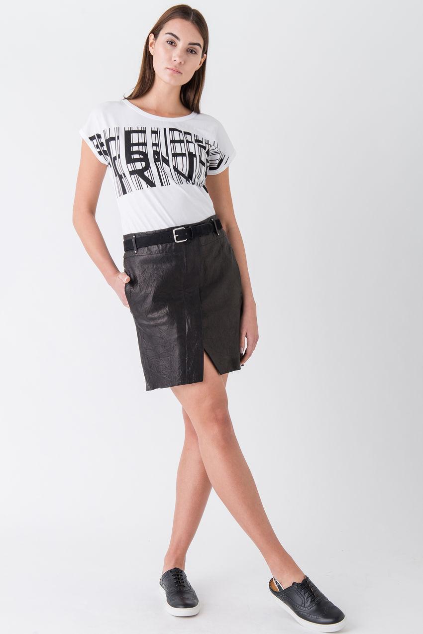Shirt mit STRENESSE Logo aus elastischem Single Jersey