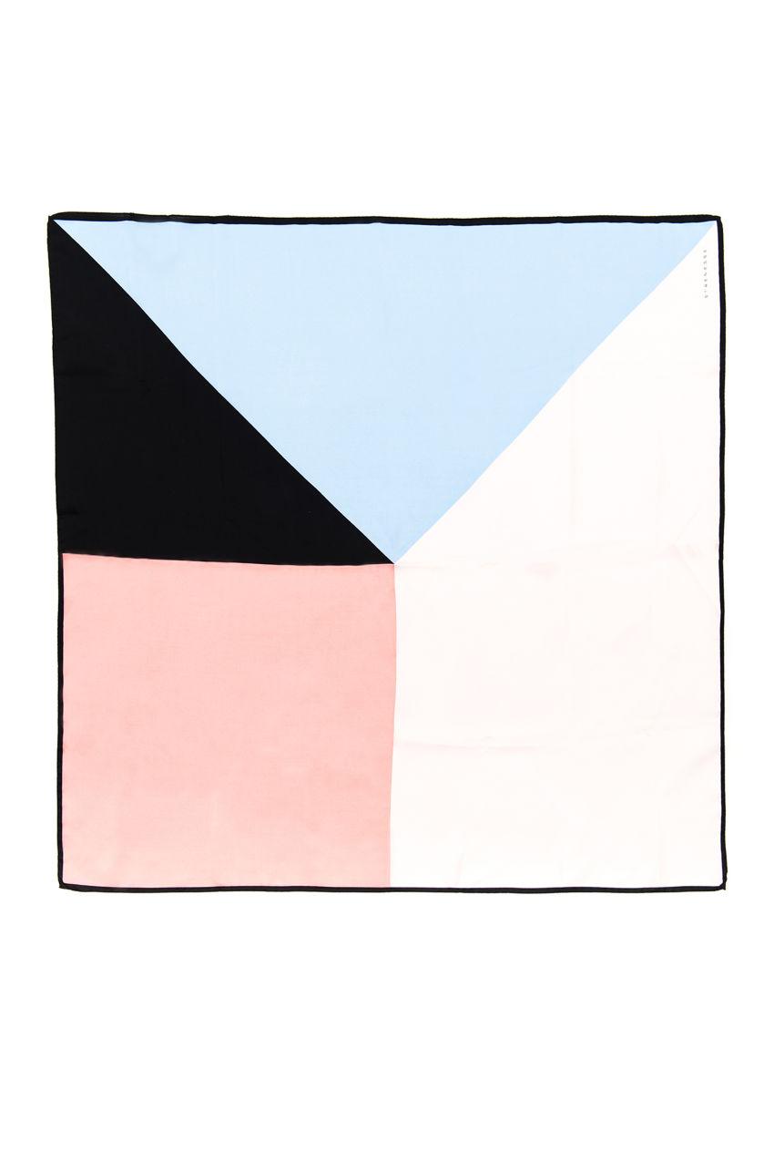Tuch aus Seide in Flamingo Print