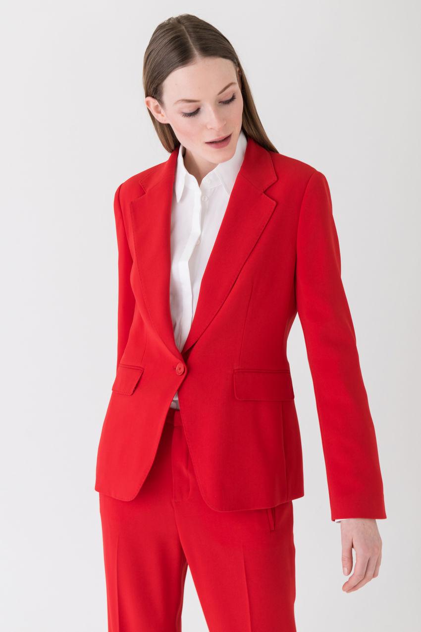 Luxuriöses Jackett mit extrabreitem Revers
