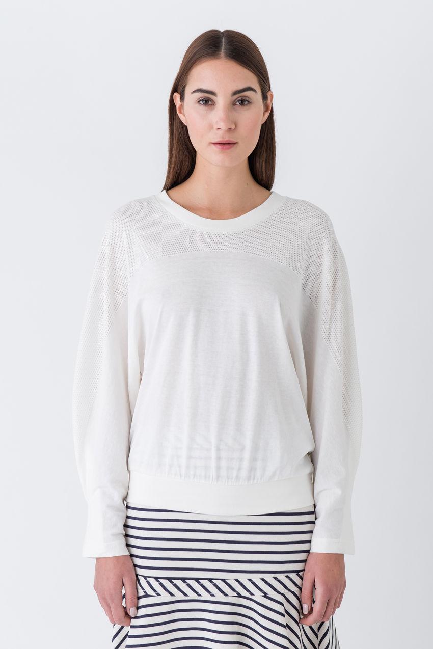 Sweater im Blogger Style mit feinem Lochmuster-Effekt