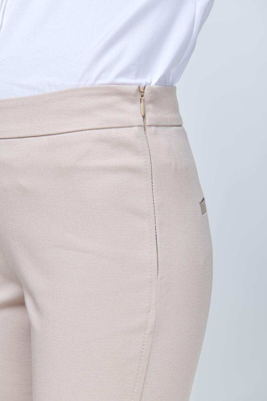 Slim-Fit Hose aus Gabardine Stretch