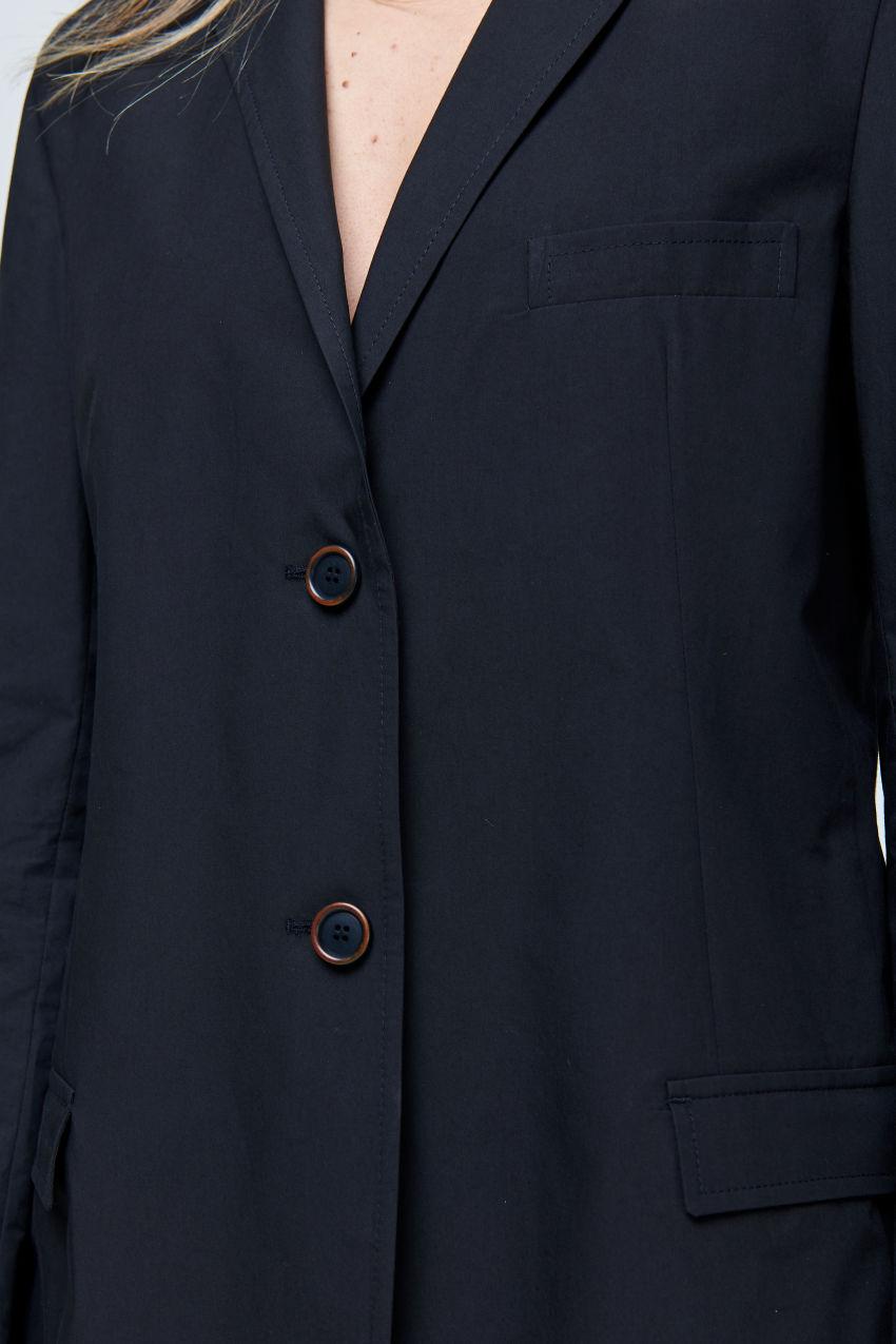 Long Blazer aus sommerlicher Baumwolle