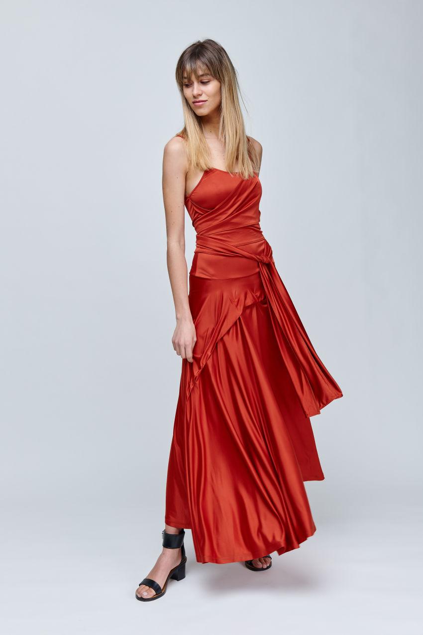 Drapiertes Jersey Kleid