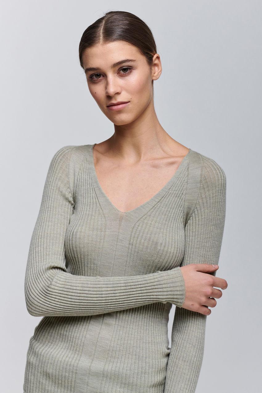 Strickpullover aus Merino Wolle
