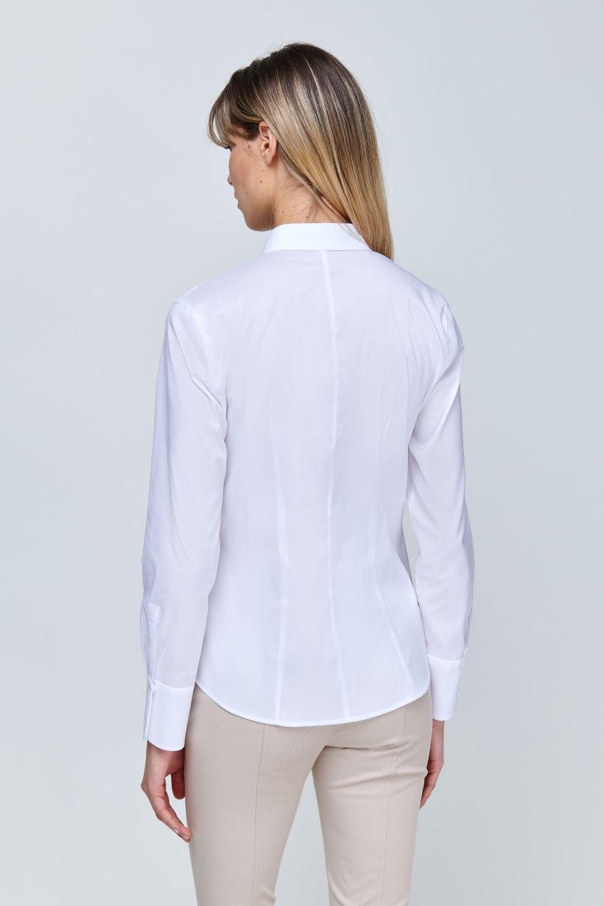 Poplin stretch blouse