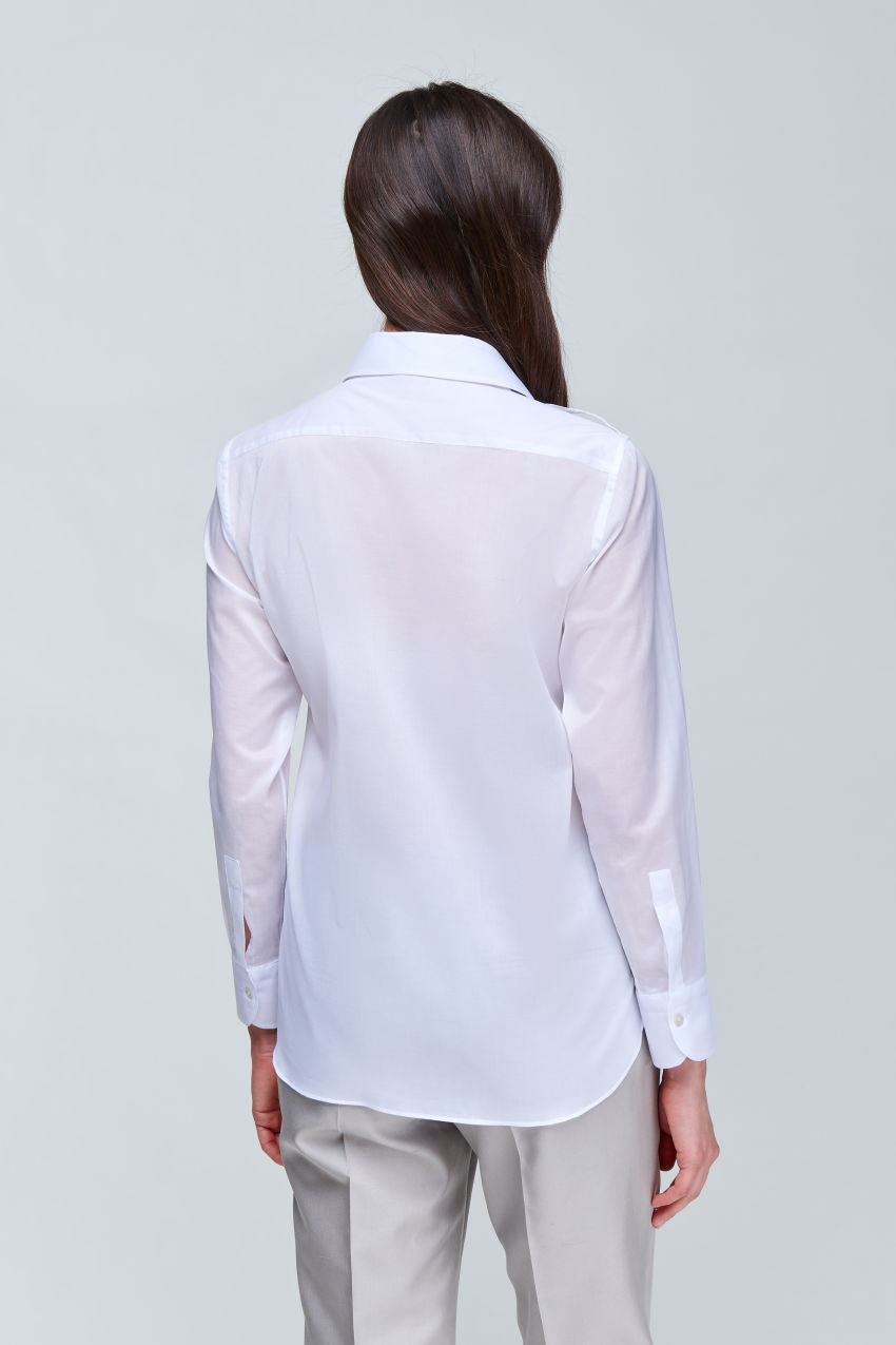 WShirt blouse in light cotton voile