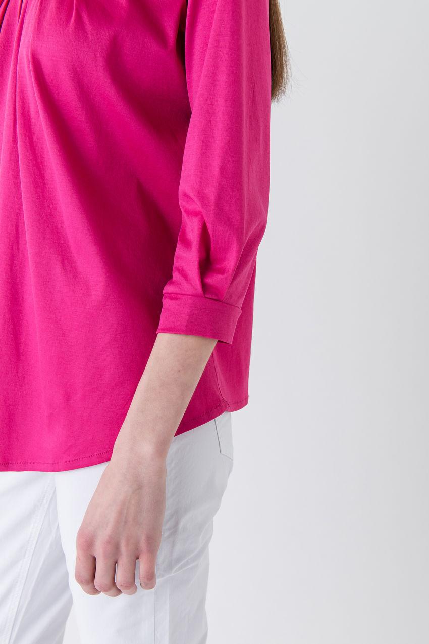 Sehr weibliches Langarmshirt aus Interlock-Jersey