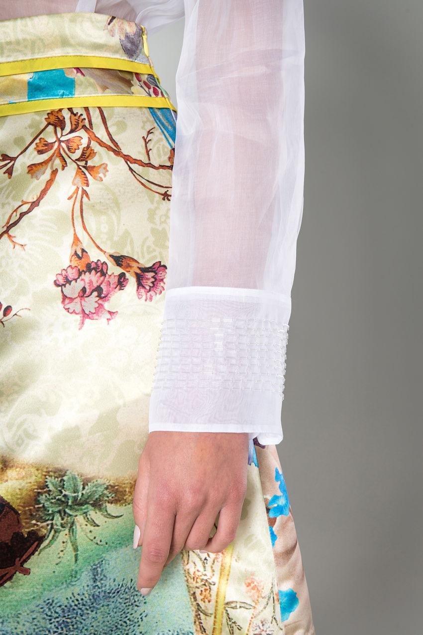 Bluse aus Baumwoll-Organza