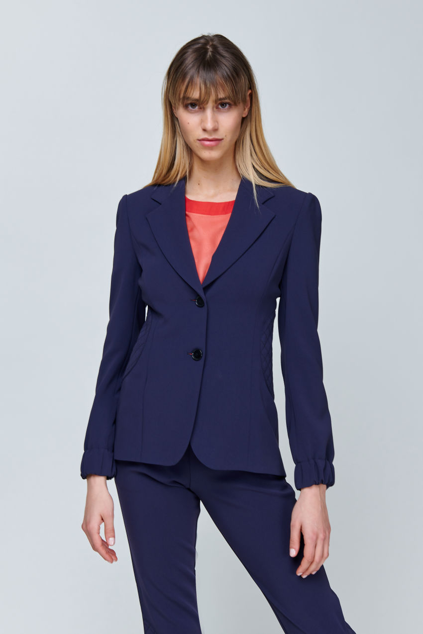 Two-button blazer in flowing crepe