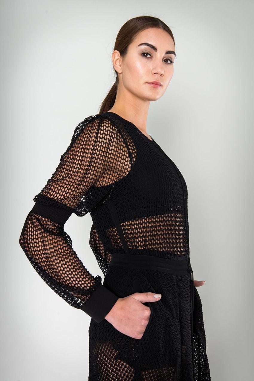 Femininer Pullover in Lochoptik