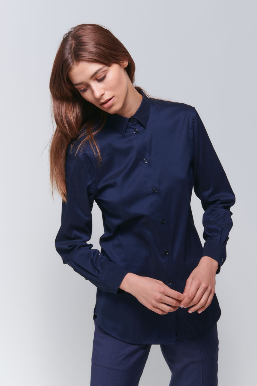 Casual poplin stretch shirt blouse