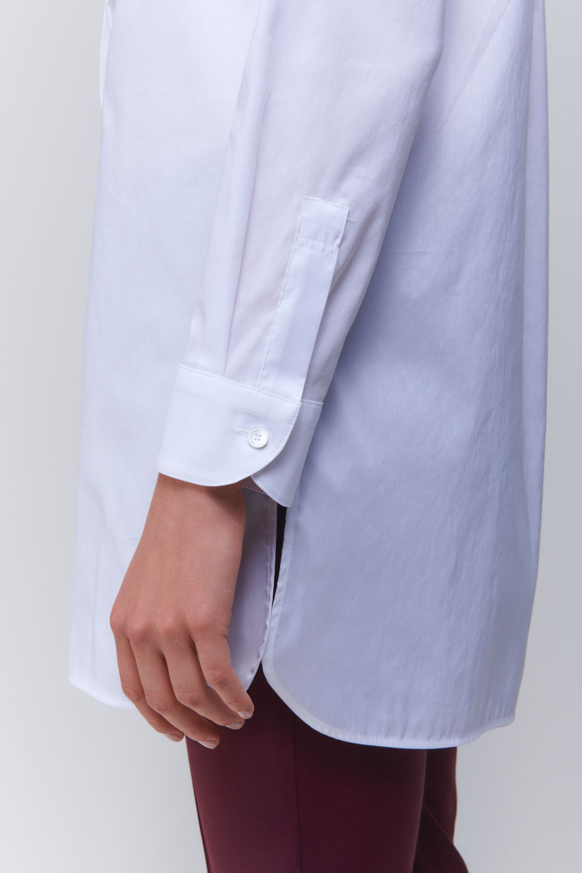 Nonchalant tunic blouse in cotton poplin stretch